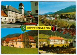 AK Steiermark 8786 Rottenmann Rathaus Krankenhaus Schule Tauern Paltental Wappen School Hospital Österreich Austria ÖST - Rottenmann