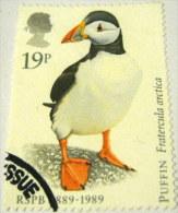 Great Britain 1989 The 100th Anniversary Of RSPB - Birds Fratercula Arctica 19p - Used - 1952-.... (Elizabeth II)