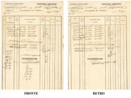 ART.BA – SERVIZIO GIORNALIERO VETTURA OMNIBUS PARTENZA DA TORINO PER VERCELLI DATATA 16 GENNAIO AGOSTO 1858 DIMENSIONI C - Italia