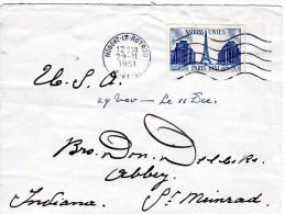 Stempel 1951  Nogent Le Rotrou - Covers & Documents