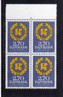 DANEMARK DANMARK DENMARK DANIMARCA 1984 EUROPA EUROPEAN PARLIAMENT PARLAMENTO EUROPEO BLOCK QUARTINA MNH - Denmark