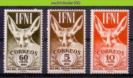 Mwt008 FAUNA WILDE HONDEN VOSSEN ZOOGDIEREN WILD DOGS FOX MAMMALS HUNDE CHIENS PERROS IFNI 1951 PF/MNH VANAF1EURO - Hunde