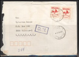 BRAZIL Cover Bedarfsbrief Postal History BR 021 Definitive Stamps - Autres