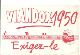 Buvard Viandox 1950 Economique Pratique Meilleur Exigez Le Viandox Solide - Sopas & Salsas