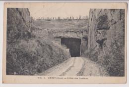 VIERZY : ENTREE DES CARRIERES - ECRITE EN 1923 - 2 SCANS - - France
