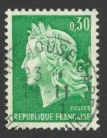 France, 30 C. 1969, Sc # 1230, Mi # 1649, Used. - 1967-70 Marianne Of Cheffer