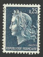 France, 25 C. 1967, Sc # 1197, Mi # 1602, Used. - 1967-70 Marianne Of Cheffer