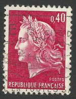 France, 40 C. 1969, Sc # 1231, Mi # 1650, Used. - 1967-70 Marianne Of Cheffer
