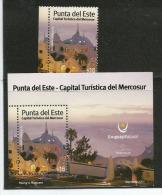 URUGUAY.Punta Del Este, Station Balnéaire Célèbre.,capitale Touristique Sud-Americaine. Un Bloc-feuillet + T-p Neufs ** - Uruguay
