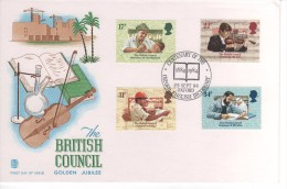 GRANDE BRETAGNE  PREMIER JOUR FDC  25 09 1984 THE BRITISH COUNCIL  GOLDEN JUBILEE - FDC