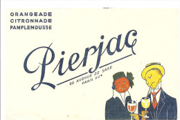 Buvard Pierjac Orangeade Citronnade Pamplemousse 60 Avenue de Saxe Paris XV�me