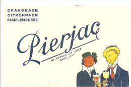 Buvard Pierjac Orangeade Citronnade Pamplemousse 60 Avenue De Saxe Paris XVème - Softdrinks