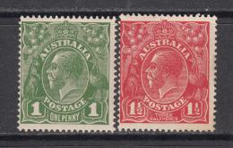 1918 - 1920   YVERT  Nº   36 , 37    / * / - 1913-36 George V : Têtes