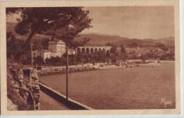 CPA Bandol - La Plage Et Le Grand Hôtel - Route De Sanary - Bandol