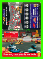 SPORT OF KARTING - DOUBLE POSTCARDS - XION STUDENT KART CUP - - Cartes Postales
