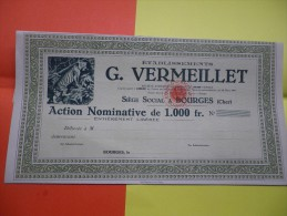 G. VERMEILLET  (bourges , Cher) - Shareholdings