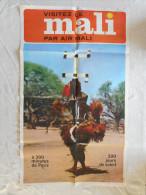 AFFICHE ANCIENNE,  MALI, AFRIQUE, AIR MALI, TOURISME, VISITEZ LE MALI