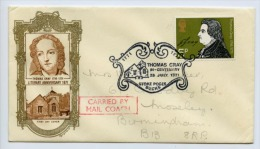 GB 1971 Commemorative Cover Carried By Mail Coach Thomas Grey (D069) - 1952-.... (Elizabeth II)