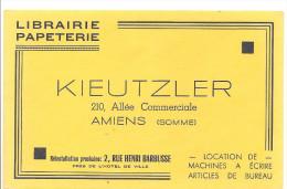 Buvard Librairie Papeterie KIEUTZLER 210 Allée Commerciale Amiens Somme - Stationeries (flat Articles)