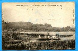 FR048, Aiguebelette, Un Coin Du Lac, 3273, Promenade En Barque à Rame, Animée, Circulée Timbre Décollé - Autres Communes