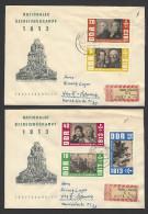DDR  RECO-FDC Mi-Nr. 988 - 992 - 150. Jahrestag Der Befreiungskriege - 2 Belege - FDC: Covers