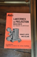 LEITZ LANTERNES DE PROJECTION MODERNES POUR DIAPOSITIFS DE PETITS FORMATS ERNEST LEITZ - Other
