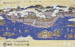 Télécarte Ancienne Japon / NTT 430-042 - BATEAU VOILIER Peinture - SHIP JAPAN NO Front Bar Frontbar Phonecard / TBE - Japon