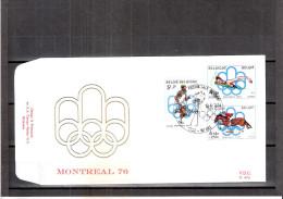 FDC Belgique - JO Montreal 76 - Série Complète - Ete 1976: Montréal