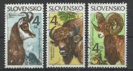 SLOVAKIA 1996 - ANIMALS - CPL. SET - USED OBLITERE GESTEMPELT USADO - Slovaquie