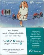 Telefonkarte Norwegen - Hund Und Vogel -  N-45 3/95 - Norwegen
