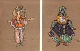 RUSSIE - ART RUSSE : ILLUSTRATION SIGNÉE: ALXANDRE BENOIS : CROIX-ROUGE - STE. EUGÉNIE ~ 1905 - 1910 (r-909) - Rusia