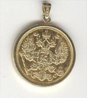 """Médaille """"20 Kopeck 1913"""" Métal Doré - Tokens & Medals"""