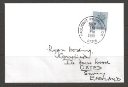 1985 Paquebot Cover, British Stamp Used In Portland, Oregon (Sep 18) - Lettres & Documents