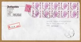 Enveloppe Cover Brief Aangetekend Registered Recommandé Elström Etalle - Belgique