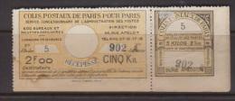 Colis Postaux  De Paris Dallay N° 140 TB (cote 40€) - Parcel Post