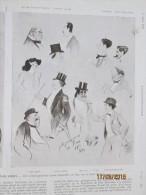 Theatre Des Champs Elysées  Croquis Caricatures  Par Sem - Vieux Papiers