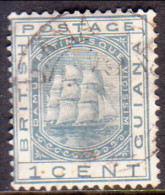 British Guiana 1876 SG #126 1c VF Used Wmk Crown CC - Guyana Britannica (...-1966)