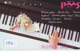 Télécarte Japon * Musique * PIANO * (192)  Japan Music Phonecard * KLAVIER Musik Telefonkarte * Fleur Roses - Musik