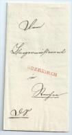 Baden 1843 Dopp. Verw. V-Bf. OBERKIRCH (L1) Und RENCHEN (K2), Mit Inhalt ! - Bade