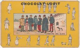 -  CHROMO Chocolat LOUIT- L'arrivée Des Bleus - Dos Légèrement Abimé Par Le Décollage De L´album - 137 - Louit