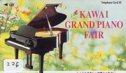 Télécarte Japon * Musique * PIANO * (226) Japan Music Phonecard * KLAVIER Musik Telefonkarte * - Muziek