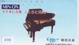 Télécarte Japon * Musique * PIANO * (227) Japan Music Phonecard * KLAVIER Musik Telefonkarte * - Music