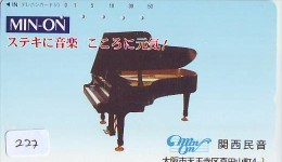 Télécarte Japon * Musique * PIANO * (227) Japan Music Phonecard * KLAVIER Musik Telefonkarte * - Muziek