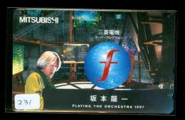 Télécarte Japon * Musique * PIANO * (231) Japan Music Phonecard * KLAVIER Musik Telefonkarte * - Música