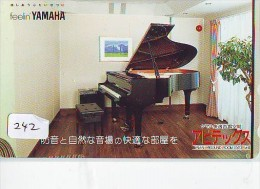 Télécarte Japon * Musique * PIANO * (242) Japan Music Phonecard * KLAVIER Musik Telefonkarte * YAMAHA - Musik