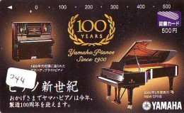 Télécarte Japon * Musique * PIANO * (244) Japan Music Phonecard * KLAVIER Musik Telefonkarte * YAMAHA - Musik