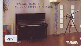 Télécarte Japon * Musique * PIANO * (245) Japan Music Phonecard * KLAVIER Musik Telefonkarte * YAMAHA - Musik