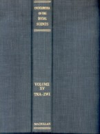 ENCYCLOPAEDIA OF THE SOCIAL SCIENCES  SELIGMAN  JOHNSON THE MACMILLAN COMPANY VOLUME XV  1957  CIRCA 1340 PAG - Psychologie