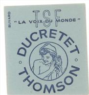 Buvard T.S.F. La Voix Du Monde Ducretet Tomson - Blotters