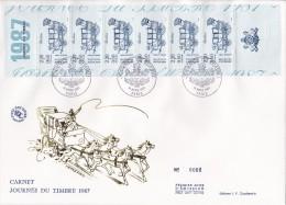 FDC Grand Format Carnet  Journée Du Timbre  1987 Berline - 1980-1989